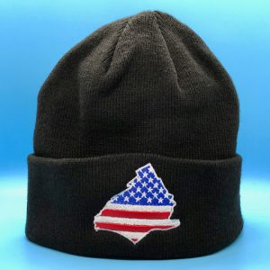 Delco Winter Knit Hat - front