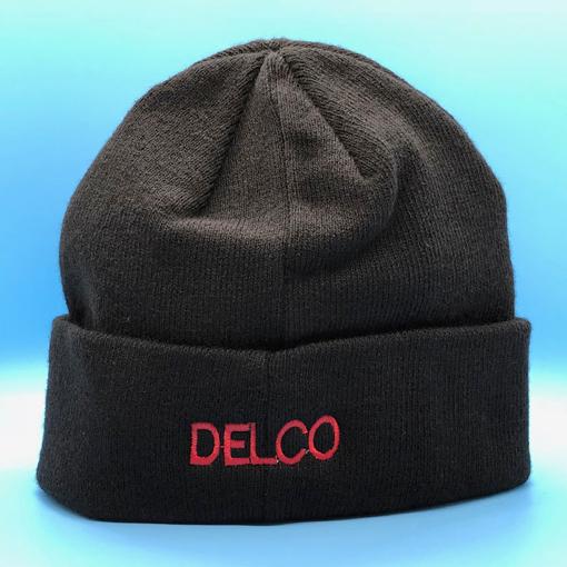 Delco Winter Knit Hat - back